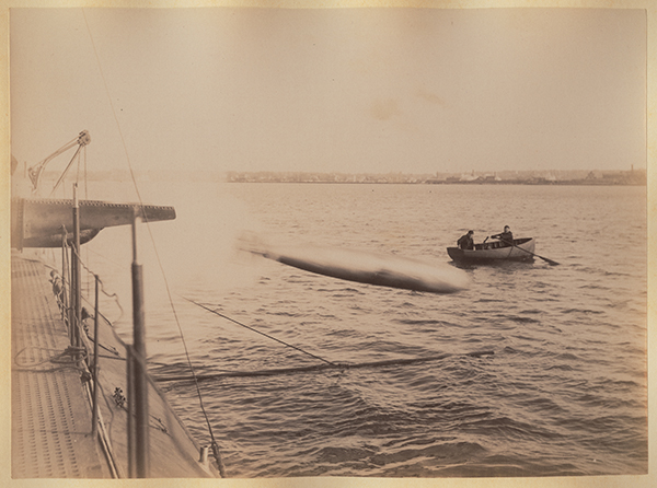 [Cushing's Experiments with torpedoes], ca. 1890