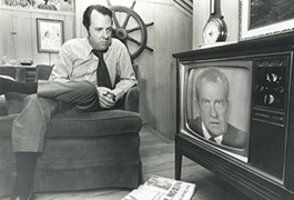 [Dallas Mayor Wes Wise Watches President Richard Nixon's Resignation]