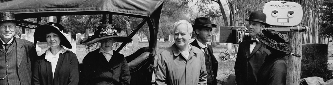 [Horton Foote and Actors on Set of '1918'], ca. 1985