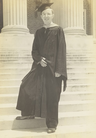 [John C. Cox at his Graduation from SMU]