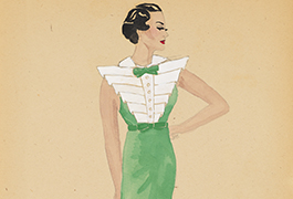 Untitled [Green Dress Design by Nancy Hamon]
