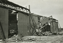 Aircraft hangar, Dachau, Germany, May 2 1945