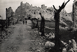 The ruins of the Abbey at Monte Cassino, 1944
