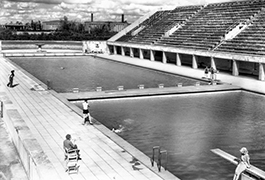 Olympic Pool, Berlin, 1945
