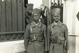 Senegalese Troopers on guard at Sultan's Palace, Rabat, Morocco, September 1943