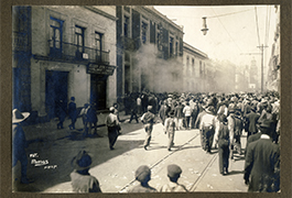 Fire in Mexico City, 1913, by Manuel Ramos