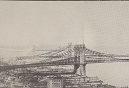 Illustration from Reconstruction of Brooklyn Bridge: 1903.