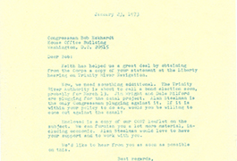 [Letter from Edward C. Fritz to U.S. Representative Bob Eckhardt, January 23, 1973]