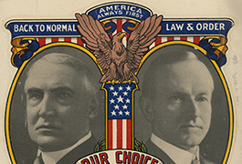 [Warren G. Harding and Calvin Coolidge Campaign Window Decal]