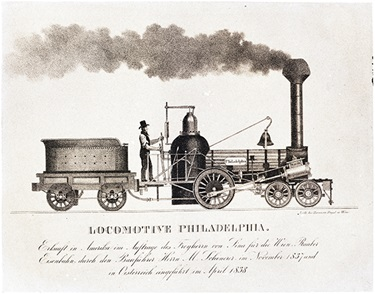 'Philadelphia' locomotive and tender, 1838