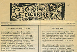 Le Sourire, Volume 01, Issue 01, November 1965