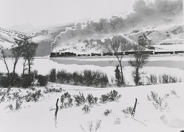 Spanish Fork Canyon- D&RGW Coal Train, five degrees below zero