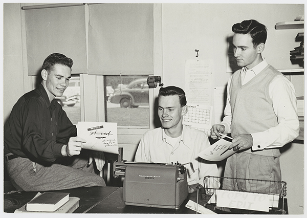 Daily Campus Staff at Work, 1955
