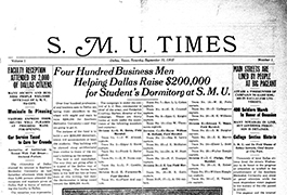 S.M.U. Times, Volume I, Number 1, September 11, 1915