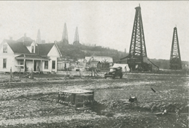 Oil derricks appear everywhere, 1919