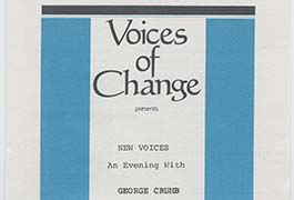 New Voices: an evening with George Crumb: January 28, 1980