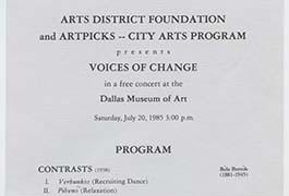 Arts District Foundation and Artpicks—City Arts Program presents Voices of Change