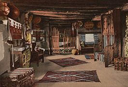An Up-stairs room, Hopi House, Grand Canyon of Arizona