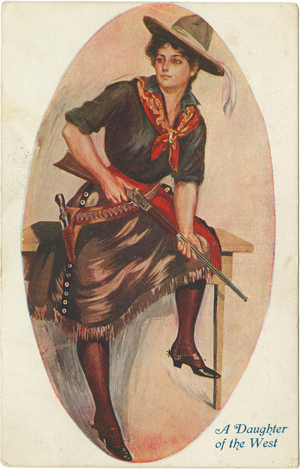 A daughter of the West, ca. 1909