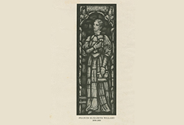 Print of a stained glass window