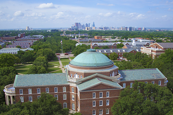 Dallas Hall and SMU campus overview