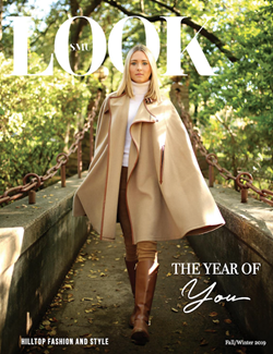 SMU Look Magazine Cover - Woman in tan Fall outfit in nature