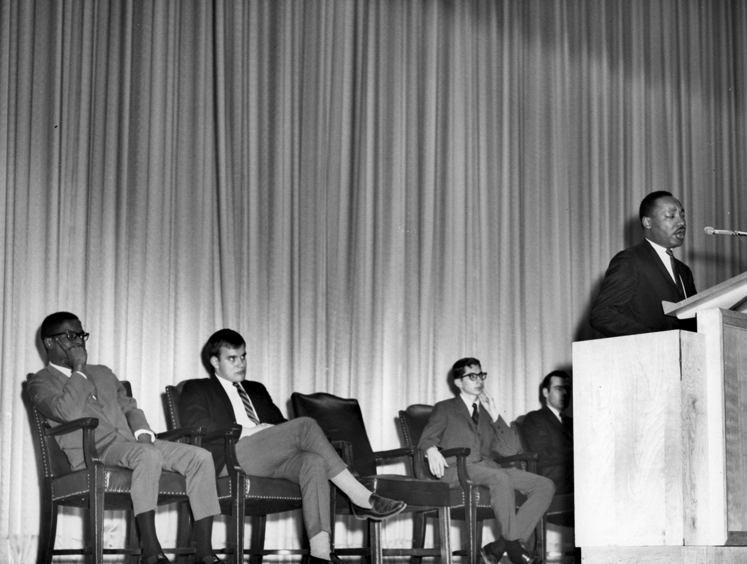 Dr Martin Luther King Jr At Smu March 17 1966 Smu