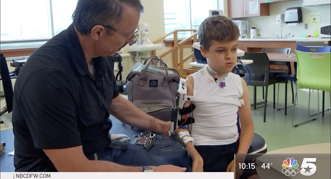 SMU robotic arm is helping Beaumont boy make a remarkable recovery after polio-like condition