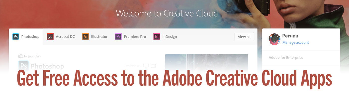 Adobe grants temporary access to Creative C;oud Desktop Apps