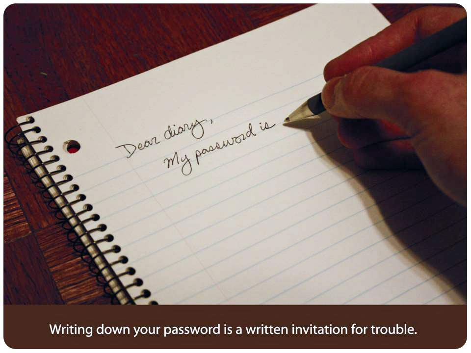 Dear Diary, My password is...