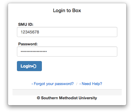 Box Login SSO with SMU ID