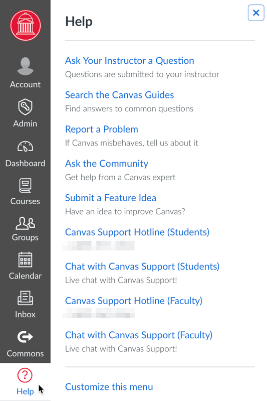 Getting Help with Canvas