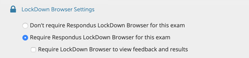 LockDown Browser settings