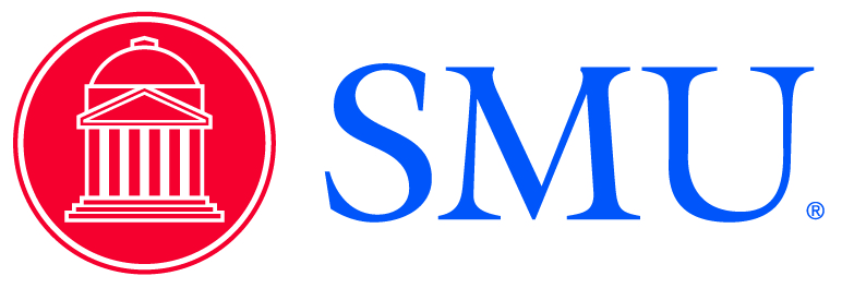 SMU shield and initials
