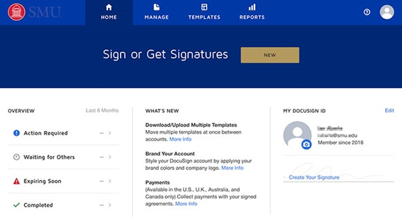 DocuSign Homepage