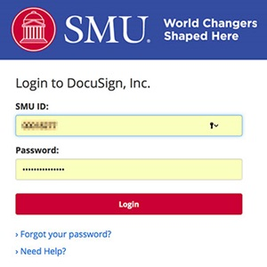 DocuSign Login with SMU ID
