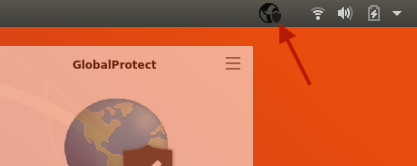 A screenshot of the GlobalProtect icon in Ubuntu.