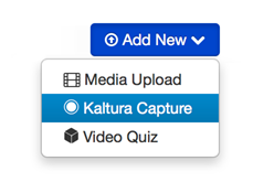Select Kaltura Capture
