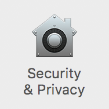 macOS Security & Privacy Settings