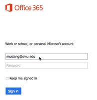 Office 365 Welcome Screen