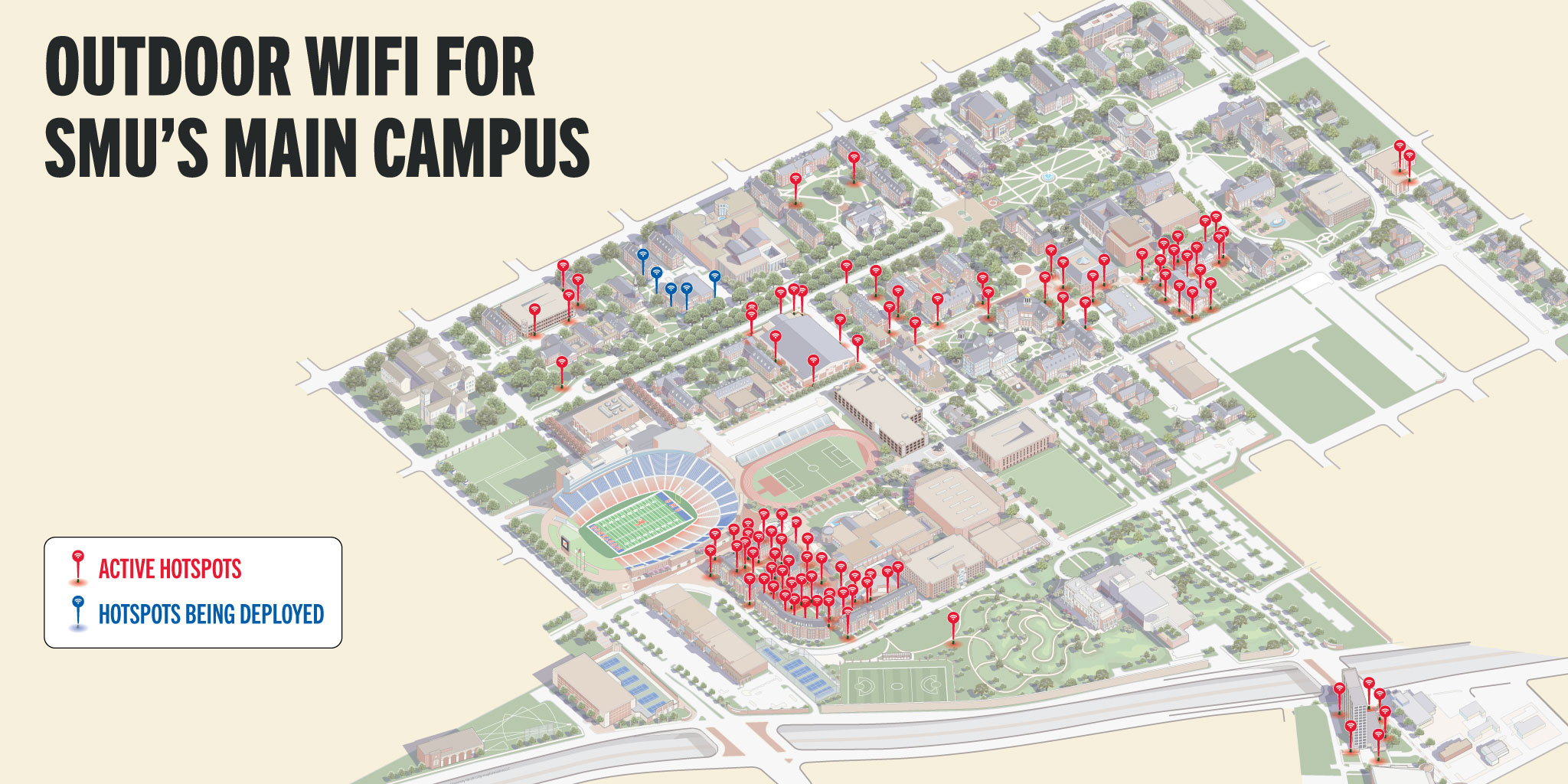 Campus Outdoor Wifi Map