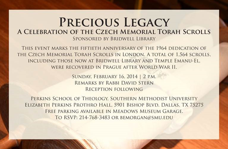 A Celebration of the Czech Memorial Torah Scrolls: Feb. 16, 2014 at 2 pm