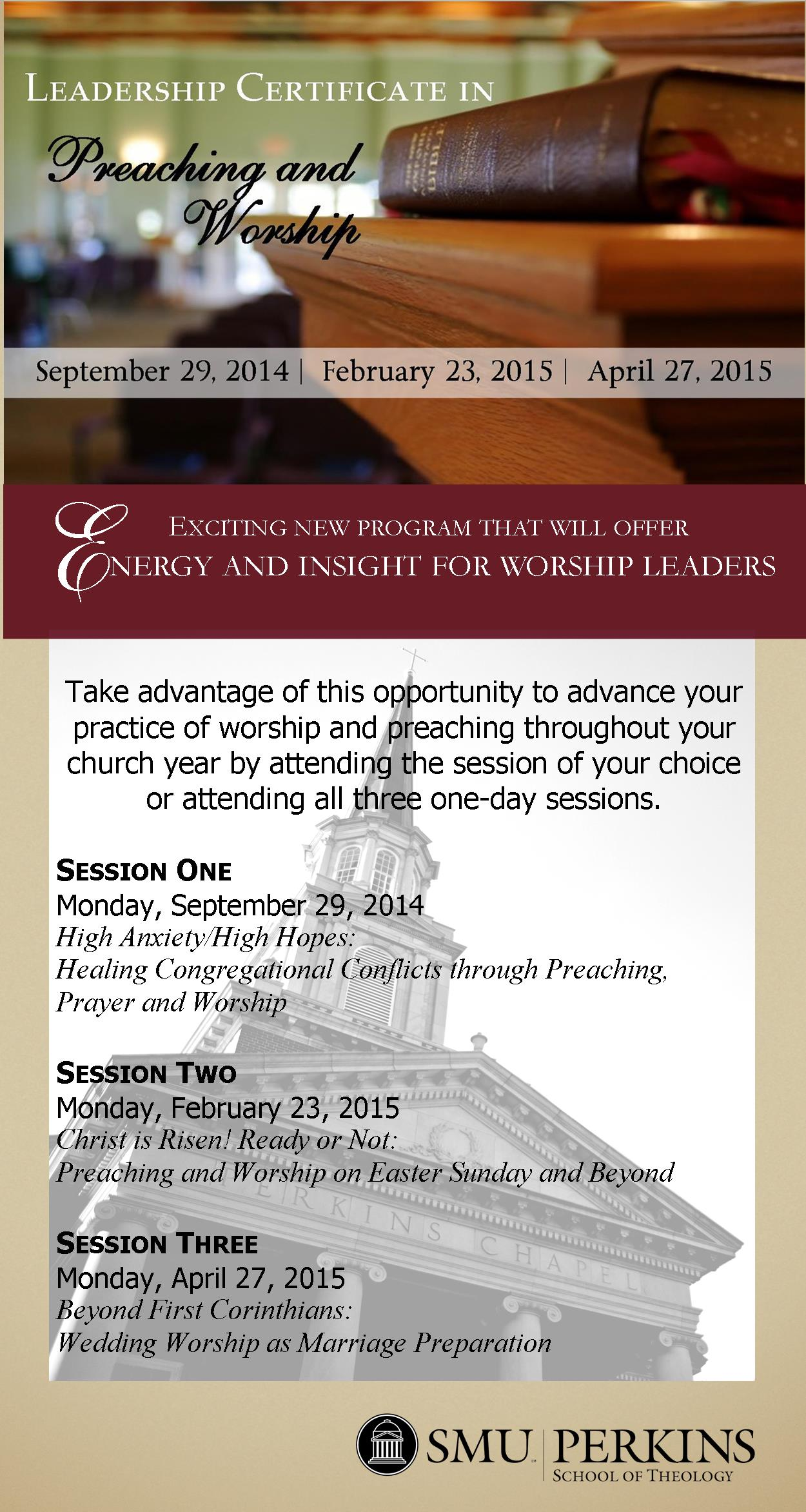 Leadership Certificate in Preaching and Worship | Perkins School of ...
