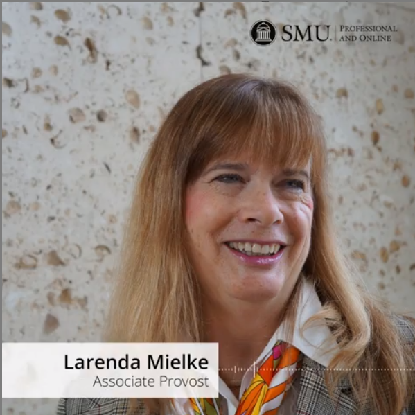 Larenda Mielke Associate Provost for SMU Global and Online smiling for a photo