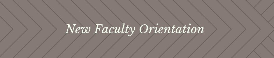 New Faculty Orientation Banner