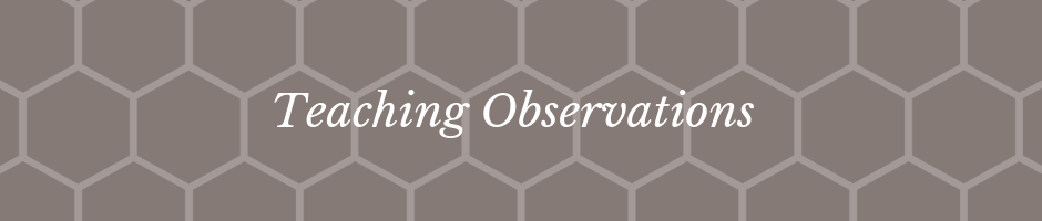 Teaching Observation Banner