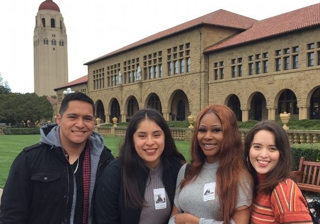 McNair Scholars students touring Stanford University to learn about graduate programs