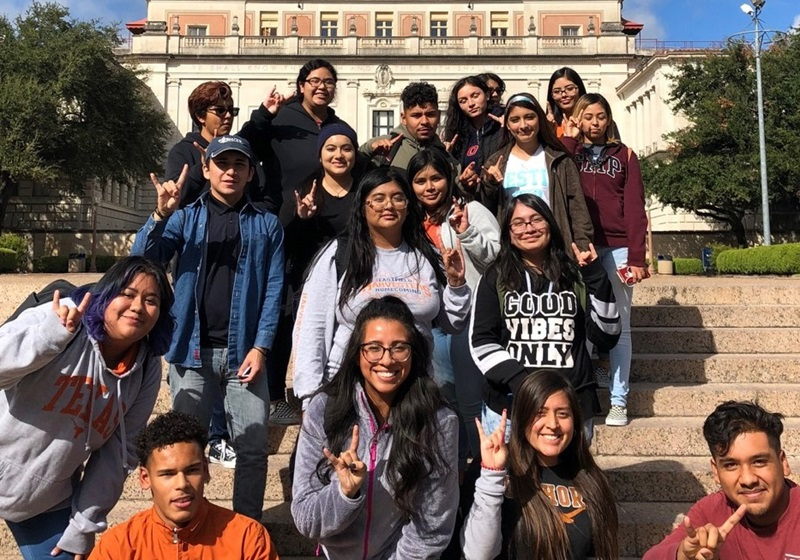 The top 6% seniors at Spruce High School visiting the University of Texas at Austin to receive college information