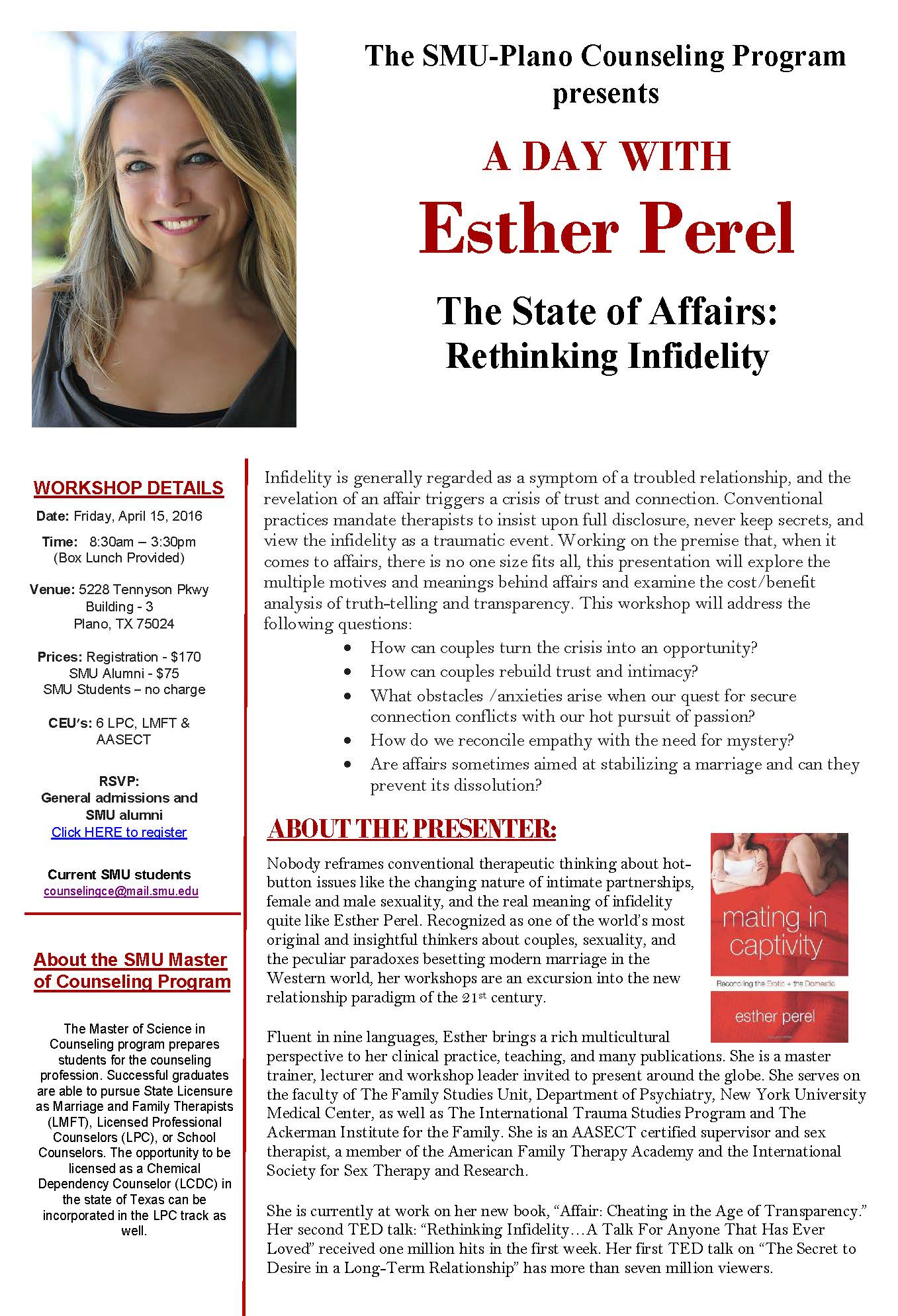 Esther Perel Workshop