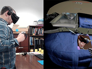 Usability testing with Oculus and surgeon participant for the VRSS project
